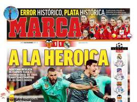 Capa do jornal Marca. Marca