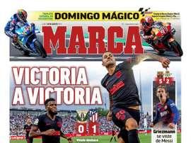 Les Unes des journaux sportifs en Espagne du 26/08/2019. Marca