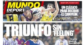 Capa do jornal 'Mundo Deportivo' de 17-02-19. MundoDeportivo