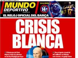 Capa do jornal Mundo Deportivo de 20-09-2019. MundoDeportivo