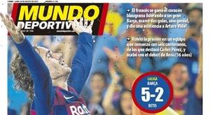 Capa do jornal Mundo Deportivo de 26-08-2019. MundoDeportivo