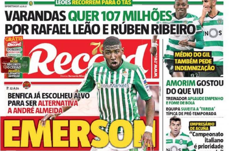 Emerson, en el punto de mira del Benfica. Record