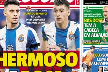 O Benfica está interessado em dois jovens do Espanyol. Record