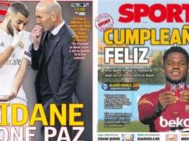 Portadas de la prensa deportiva del 31-10-20. AS/Sport