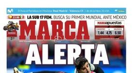 La Une de Marca du 01/12/2018. Marca