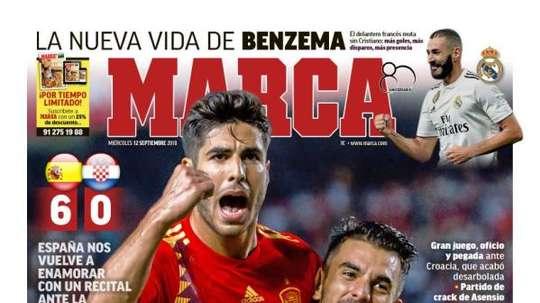 Une de Marca du 12/09/2018. Marca