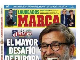 Les Unes des journaux sportifs en Espagne du 18 février 2020. Marca