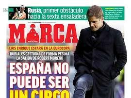 Les Unes des journaux en Espagne. Marca