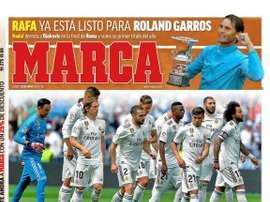 Les Unes des journaux sportifs. Marca