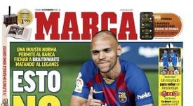 Les Unes des journaux sportifs en Espagne du 21 février 2020. Marca