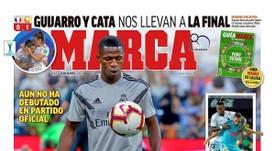 Capa do jornal 'Marca' de 21-08-18. Marca