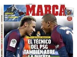 Les Unes des journaux sportifs en Espagne du 24 mai 2019. Marca