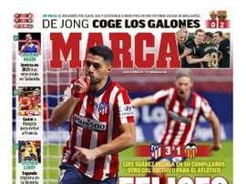 Les Unes des journaux sportifs d'Espagne du 25 janvier 2021. Marca