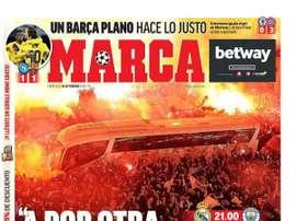 Les Unes des journaux sportifs en Espagne du 26 février 2020. Marca