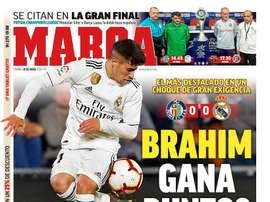 La Une de Marca, 26/04/2019. Marca