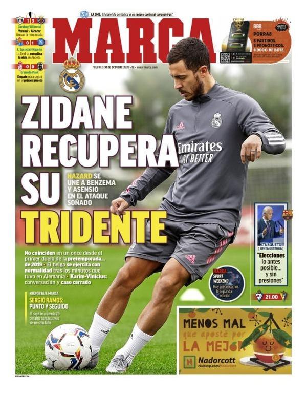 Hazard, Benzema y Asensio: 'El Reencuentro'