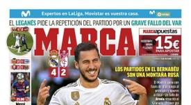 Les Unes des journaux sportifs en Espagne du 06/10/2019. Marca