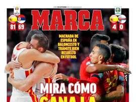 Les Unes des journaux sportifs espagnols du 09/09/2019. Marca