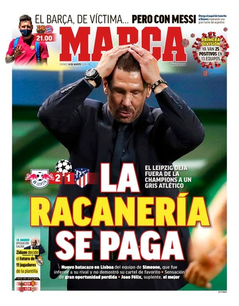 Capa revista Marca 14/08/2020