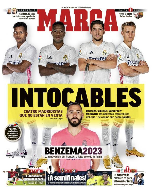 Los cuatro intocables para el futuro del Real Madrid
