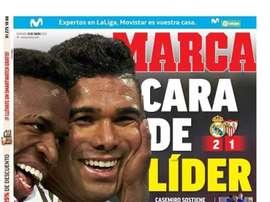 Les Unes des journaux sportifs en Espagne du 19 janvier 2020. Marca
