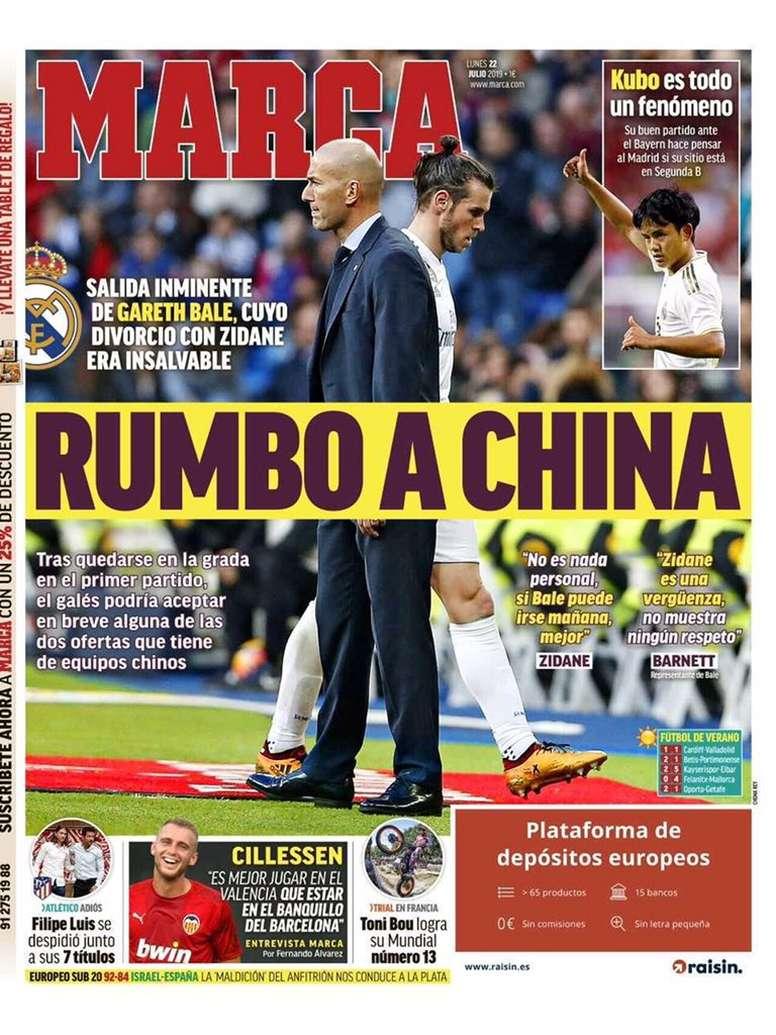 Portadas de la prensa deportiva del 22-07-19. Marca