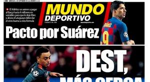 Capa da revista Mundo Deportivo de 23 de setembro de 2020. MD
