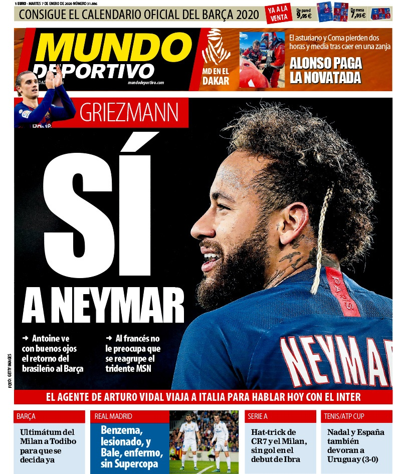 Capa Mundo Deportivo 07-01-2020