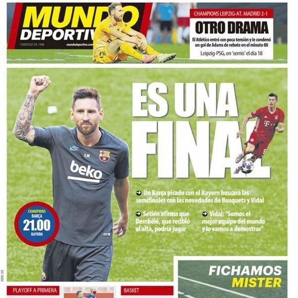 Capa Mundo Deportivo 14/08/2020