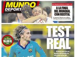 Les Unes des journaux sportifs en Espagne. MD