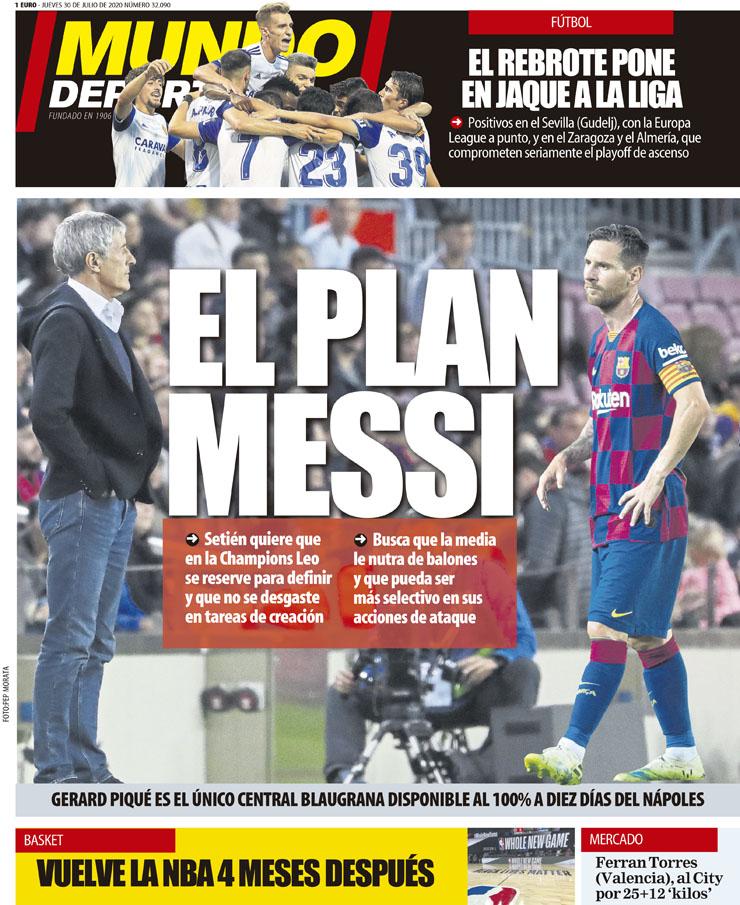 Dosificar a Messi, la clave para la Champions