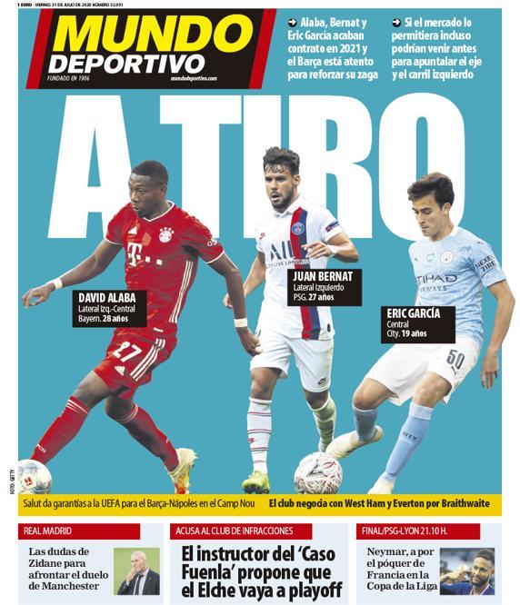 Capa da revista Mundo Deportivo de 31-07-20. MD