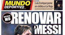 Capa do jornal 'Mundo Deportivo' de 13-10-18. Mundo Deportivo