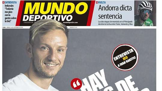 Capa do jornal 'Mundo Deportivo' de 14-09-18. Mundo Deportivo