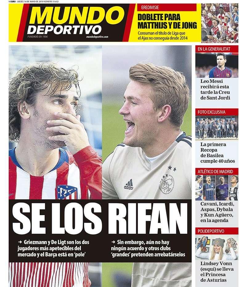 La Une de Mundo Deportivo du 16/05/2019. MD