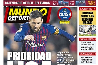 Mundo Deportivo 16-12-18. MundoDeportivo