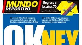 Capa do jornal 'Mundo Deportivo' de 8-10-18. MD