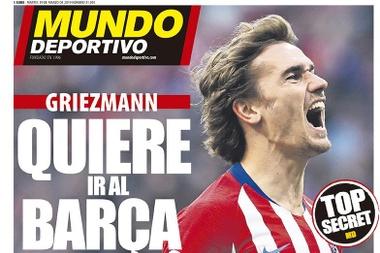 Capa do jornal 'Mundo Deportivo' de 19-03-19. Mundo Deportivo
