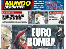 Capa do Mundo Deportivo 19-11-19. Mundo Deportivo