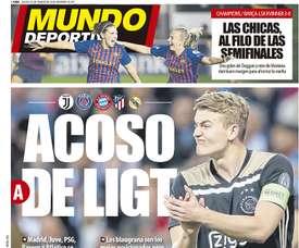 Capa do jornal 'Mundo Deportivo' de 21-03-19. Mundo Deportivo