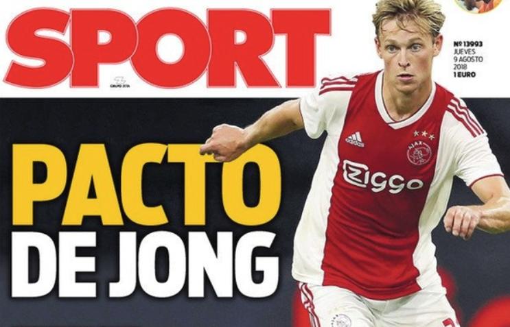 De Jong se rapproche du Barça. Sport
