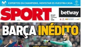 Les Unes des journaux sportifs d'Espagne. Sport