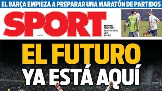 Portada Sport 12-09-18. Sport