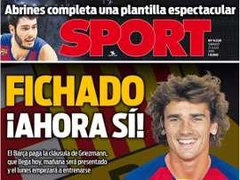 Les Unes des journaux sportifs en Espagne du 13 juillet 2019. Sport