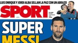 Capa do jornal 'Sport' de 13-11-18. Sport