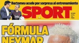 Capa do jornal Sport de 18-07-19. Sport