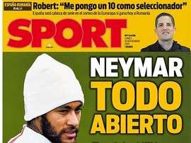 Capa da revista Sport 18-11-19. Sport