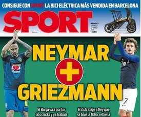 La Une de 'Sport' 22/06/19. Sport