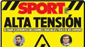 Estas son las portadas de la prensa deportiva de hoy. Sport
