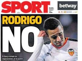 Capa da revista Sport de 29-01-20. Sport
